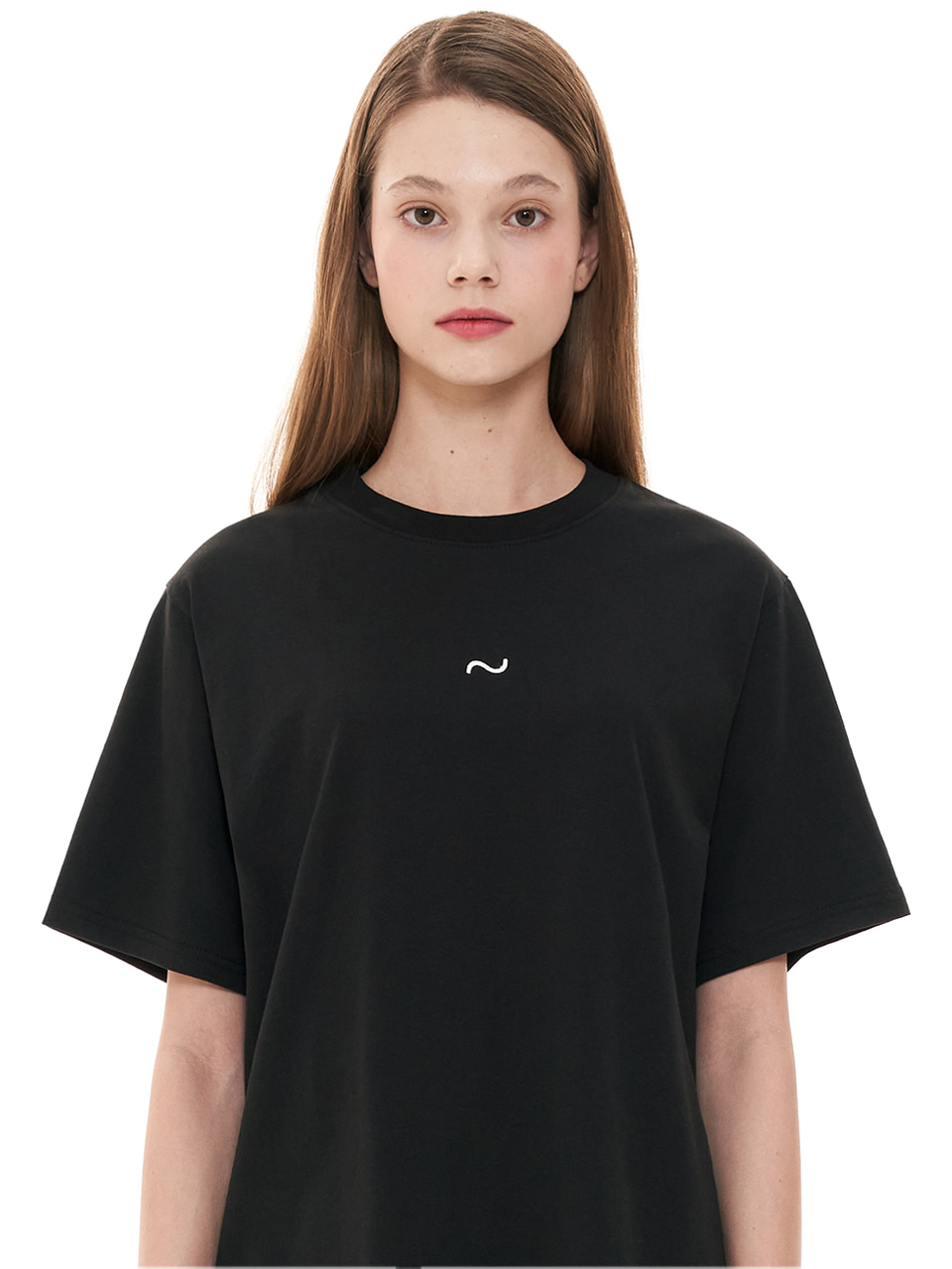 (CTC1) WAVE ICON EMBROIDERY T-SHIRTS BLACK